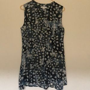 CAbi Sleeveless Semi Sheer Tunic Top